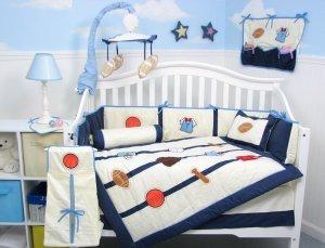 All Star Sports Baby Boy Infant Crib Nursery Bedding Set 15pcs