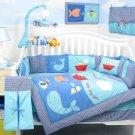 Little Sailor Adventure Baby Infant Nursery Crib Bedding Set 15pcs