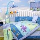 Deep Sea Aquarium Baby Crib Nursery Bedding Set 15pcs