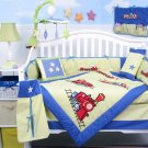 Choo Choo Train Baby Boy Crib Nursery Bedding Set 15pcs