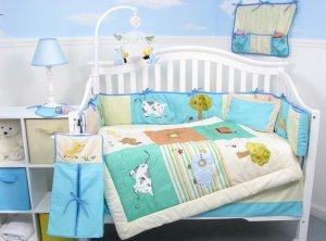 Farmland Animals Baby Infant Nursery Crib Bedding Set 15pcs