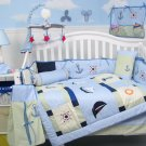 Baby Skipper Nautical Baby Infant Crib Nursery Bedding Set 15pc