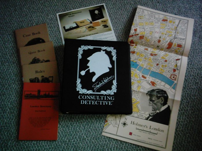 1981 Sherlock Holmes Consulting Detective Game