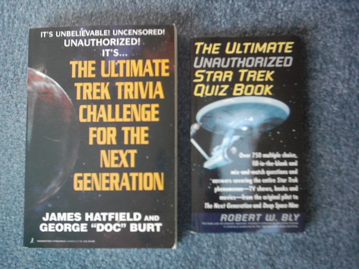 Star Trek Quiz & Trivia Books Lot