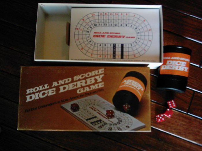 Roll and Score Dice Derby Game 1977 E.S. Lowe -not available