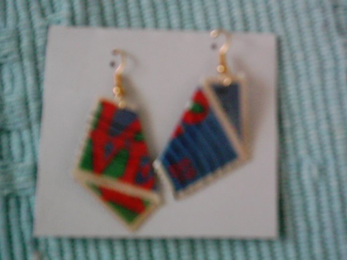 Robert Indiana LOVE stamp pierced earrings
