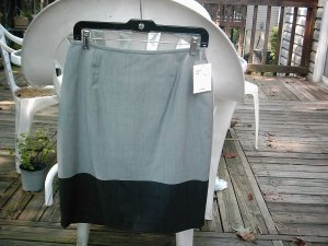 NEW Women's Gray Career Skirt Size 6 Lafayette $198 NWT