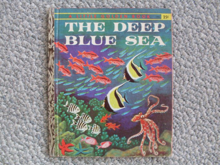 LGB The Deep Blue Sea 'A' Little Golden Book 1958 clean