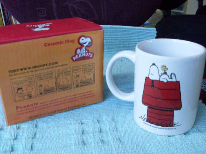 NEW Peanuts Snoopy Woodstock Doghouse Ceramic Mug