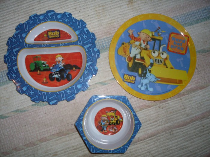 Bob the Builder Kid's Plates Divided Dish & Bowl The First Years