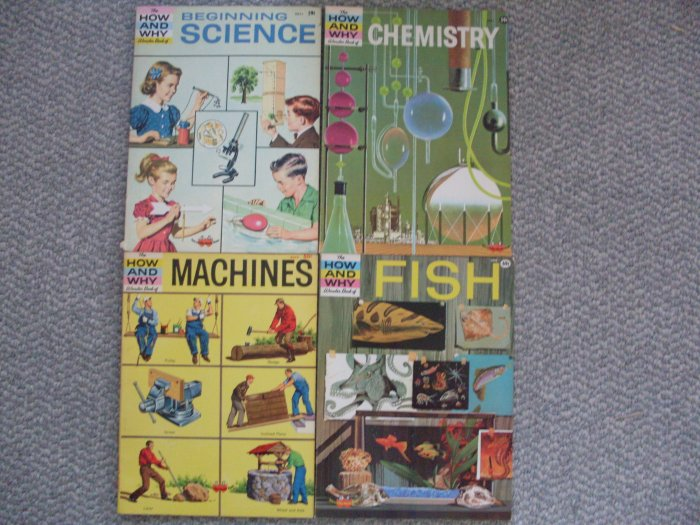 4 How and Why Wonder Books Vintage Lot Science Chemistry