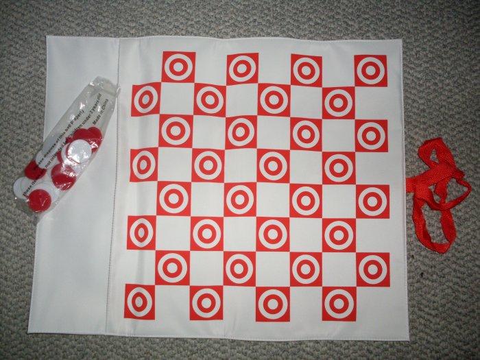 New Target Portable Folding Beach Travel Checkers Set