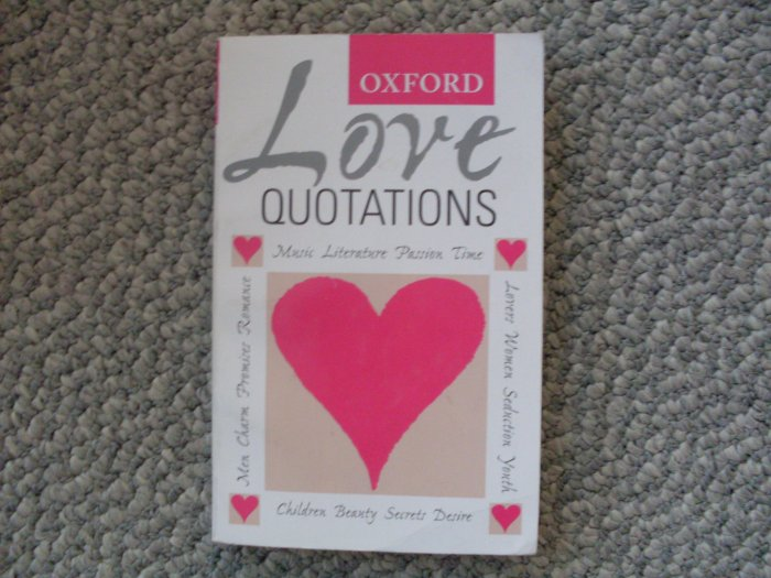 Oxford Love Quotations PB Book Romance reference Gift