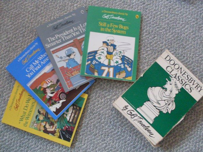 LOT Doonesbury Classics Boxed Set 4 PB Comic Books 1980