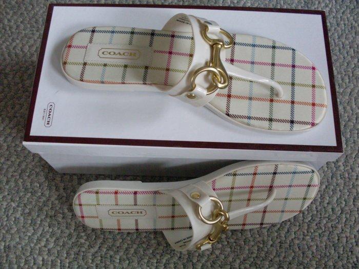 NEW Coach Rikki Ivory Sandals Size 6.5 new in box