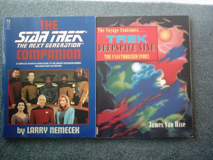 Star Trek Lot TNG Companion Book DS9 Deep Space Nine