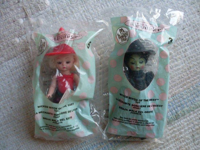 2 NIP Wicked Witch West & East Madame Alexander McDonalds dolls