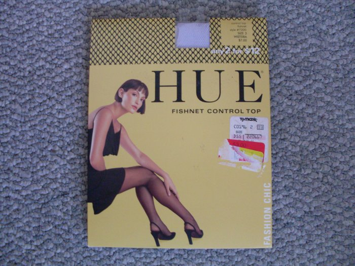 NEW Fishnet Control Top Pantyhose Size 2 HUE Lilac NIP