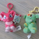 Neopets Keychains Lot 2 Acara & Elephante Clips NEW
