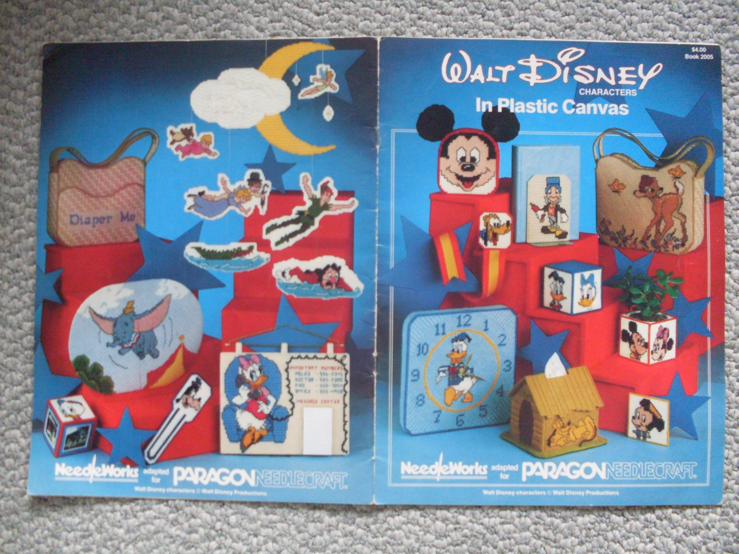 Disney Characters in Plastic Canvas Pattern Book