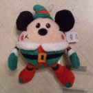 "NEW 10"" Elf Mickey Mouse Christmas Doll Plush"