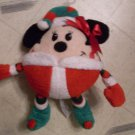 "NEW 10"" Elf Minnie Mouse Christmas Doll Plush"