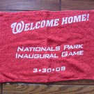 Washington Nationals Park Inaugural Game 2008 souvenir towel