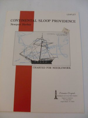 Cross Stitch Leaflets Sloop Providence & USS Constellation