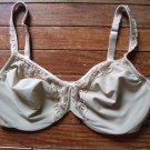 Lilyette Bra underwire tan beige 38 D EUC style 427
