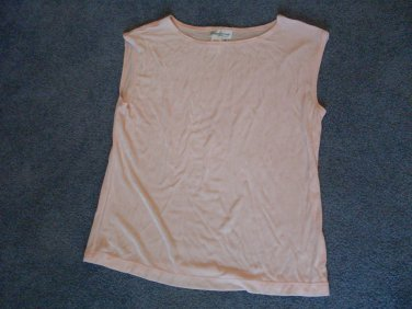 Coldwater Creek Size S Woman's Top Ice Pink Shiny Knit sleeveless shell