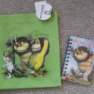NEW Where the Wild Things Are Child's Tote Bag & notebook