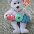 MOM Beanie Babies 2004 with tags Purple Bear M-O-M
