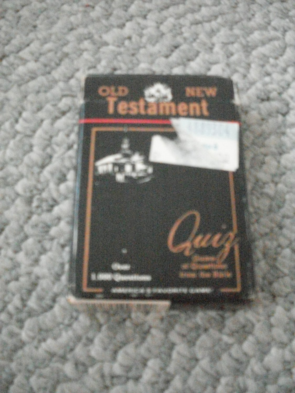 Old and New Testament Quiz Game Cards Bible Vol. IV