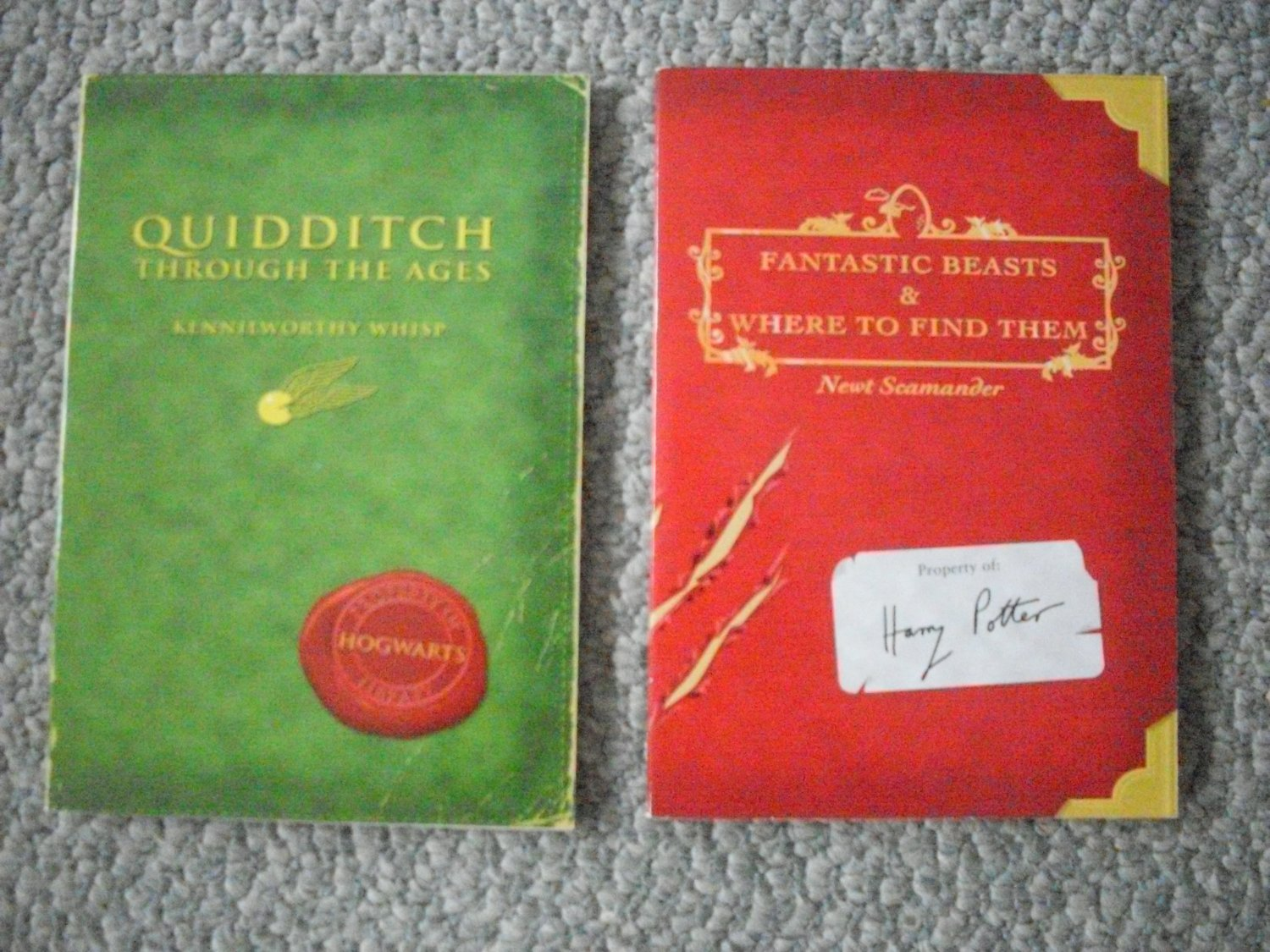 Harry Potter Book Lot Quidditch and Fantastic Beasts