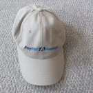 New PayPal Baseball Cap Tan Beige Adult adjustable