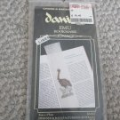 NEW Emu Linen Bookmark Cross Stitch Kit Australia