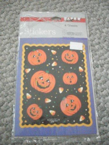 NEW Pumpkin Jack 'o' Lantern Halloween Sticker Sheets