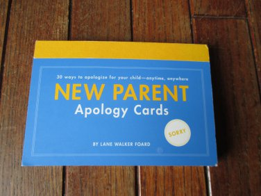 NEW Apology Cards for New Parents Set of 30