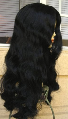 Black Long Sexy Wavy Wig~Witch~Halloween Costume~Cosplay