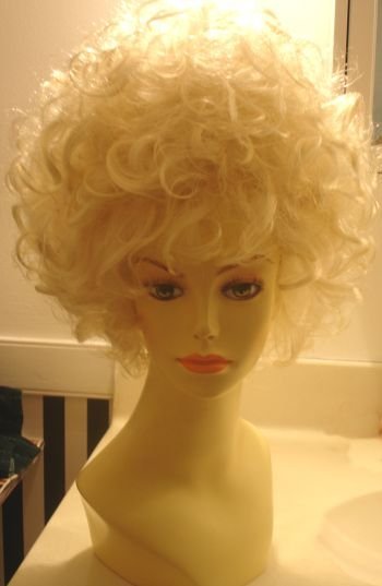 Big Blonde Teased Up Beehive Wig~Dolly Parton Costume~Halloween~Drag Queen