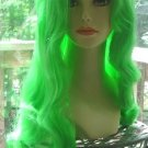 Long Wavy Green Wig~Mermaid Costume