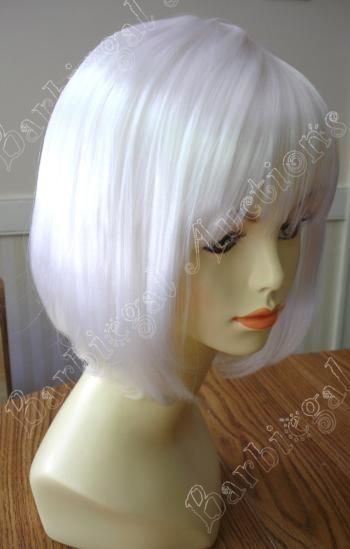 Short White China Doll Bob Wig with Bangs - Anime Cosplay Costume