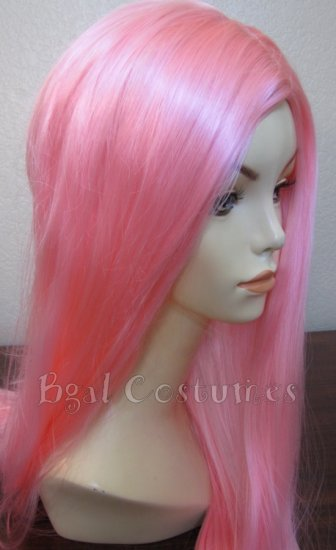 Long Light Pink Wig~No Bangs~Cosplay~Anime~Halloween Costume