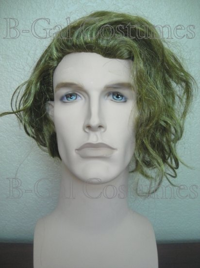 Official Joker Halloween Costume Wig~Batman The Dark Knight~Heath Ledger