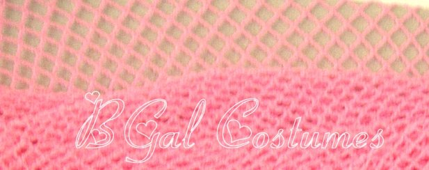 Light Baby Pink Fishnet Pantyhose~Hose~Stockings~One Size~Halloween