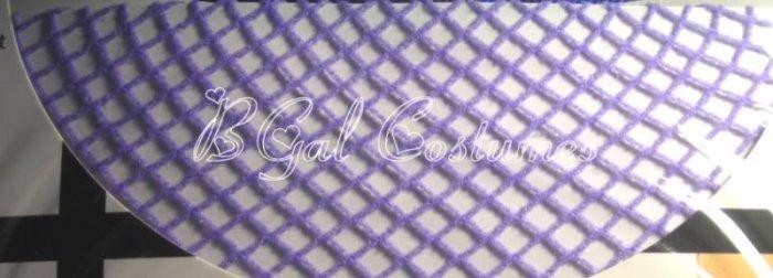 Lavender Purple Fishnet Pantyhose~Hose~Stockings~One Size~Halloween