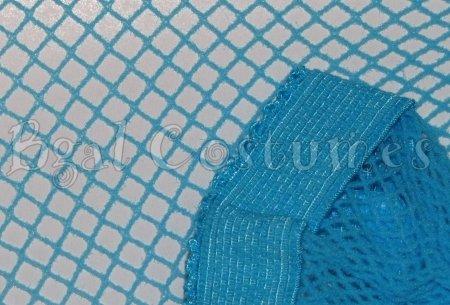 Turquoise Aqua Blue Fishnet Pantyhose~Hose~Stockings~One Size~Halloween