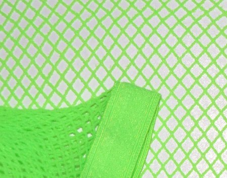 Neon Green Fishnet Pantyhose~Hose~Stockings~One Size~Halloween