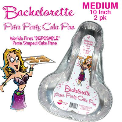 "Bachelorette Party 10"" Penis Cake Pans or Jello Molds~Set of 2!"