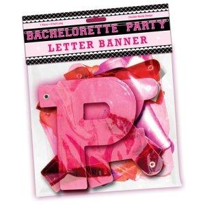 Bachelorette Party Letter Banner~Hot Pink Foil~Supplies
